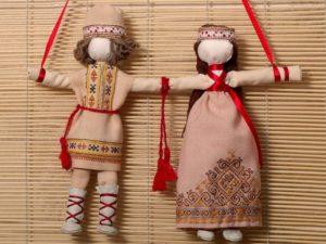 Оберег на удачную свадьбу - куклы Неразлучники
